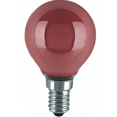 Лампа шар 25W DECOR P COLOR P45 220-240V E14 КРАСНЫЙ OSRAM